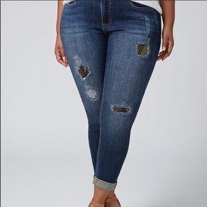 Lane Bryant Camo Patch Skinny Jeans Size 22